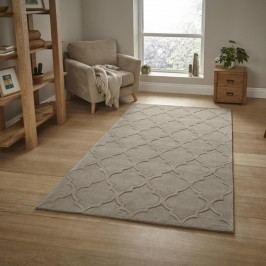 Šedozelený ručně tuftovaný koberec Think Rugs Hong Kong Puro Beige, 120 x 170 cm