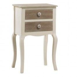 Krémový noční stolek se 2 zásuvkami Geese Shabby Chic