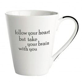 Porcelánový hrnek KJ Collection Follow Your Heart, 300ml