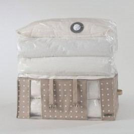Béžový úložný box s vakuovým obalem Compactor Rivoli, šířka65cm