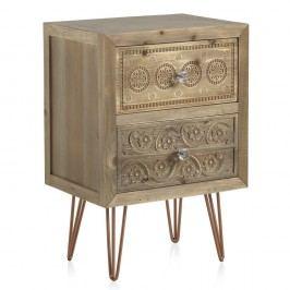 Noční stolek se 2 zásuvkami Geese Lisboa
