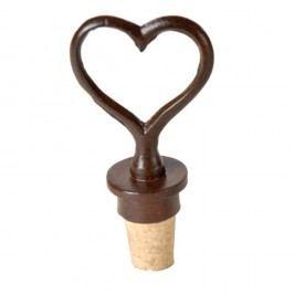 Zátka na víno ve tvaru srdce Antic Line Heart
