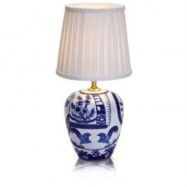 Modro-bílá stolní lampa Markslöjd Goteborg, výška 33 cm