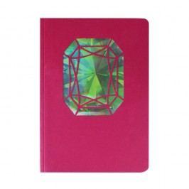 Zápisník A6 Portico Designs Smaragd, 124stránek