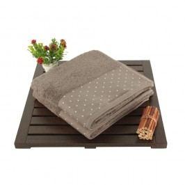 Sada 2 hnědých bavlněných ručníků Patricia, 50x90cm