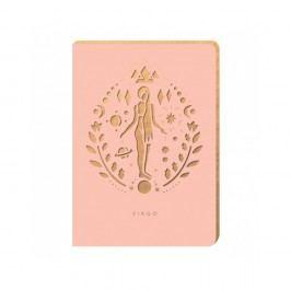 Linkovaný zápisník Portico Designs Panna, 124stránek