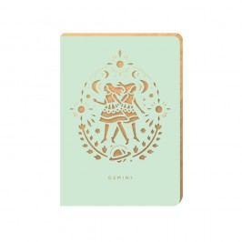 Linkovaný zápisník Portico Designs Blíženci, 124stránek