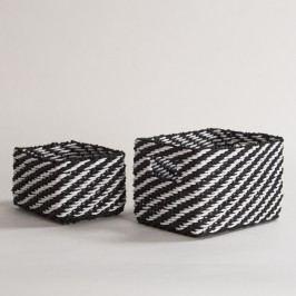 Sada 2 černobílých úložných košíků Compactor Basket Claudie