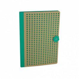 Zelený zápisník Portico Designs Laser, 160stránek