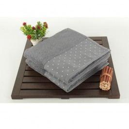 Sada 2 šedých bavlněných ručníků Patricia,50x90cm