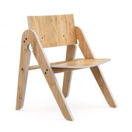 Dětská židle z bambusu Moso s šedými detaily We Do Wood Lilly's