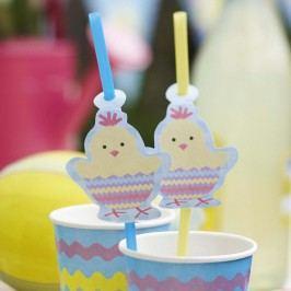 Sada 10 brček s papírovou dekorací Neviti Easter Chick
