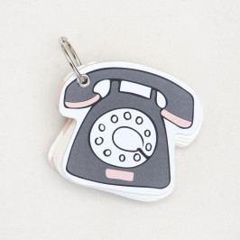 Zápisníček na klíče Caroline Gardner Telephone Notebook Keyring