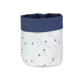 Modro-bílý dětský úložný koš s modrými hvězdičkami Art For Kids Stars