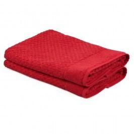 Sada 2 červených ručníků ze 100% bavlny Mosley, 50x80cm