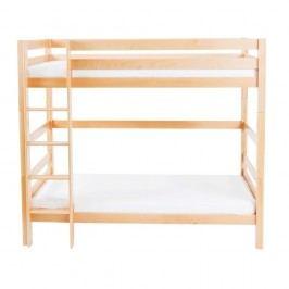 Dětská patrová postel z masivního bukového dřeva Mobi furniture Daniel, 200x90cm
