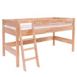 Dětská patrová postel z masivního bukového dřeva Mobi furniture Nik, 200x90cm