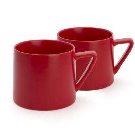 Sada 2 červených keramických hrnků Bredemeijer Lund, 300ml