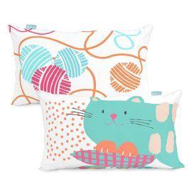 Bavlněný oboustranný povlak na polštář Moshi Moshi Cat&Mouse, 50x30cm