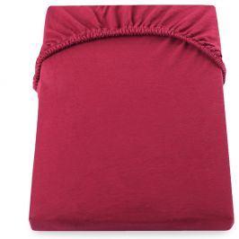 Červené prostěradlo DecoKing Amber Collection, 140-160 x 200 cm