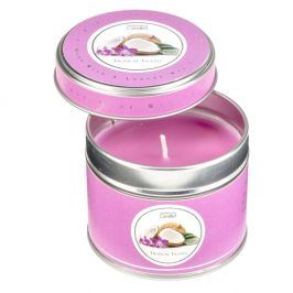 Aroma svíčka v plechovce s vůní tropického ovoce Copenhagen Candles, doba hoření 32 hodin