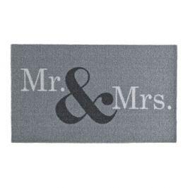 Šedá rohožka Hanse Home Design Mr and Mrs, 50x70cm
