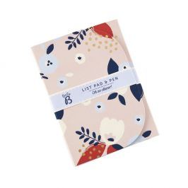 Set zápisníku a pera Busy B Floral