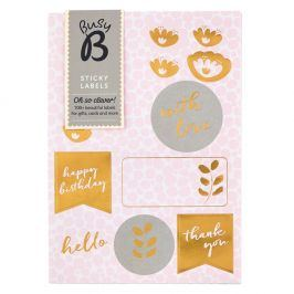 Sada lepíků Busy B Pinky Labels