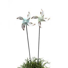 Sada 2 dekorativních zápichů ve tvaru větrníku Ego Dekor, 56 x 14 cm
