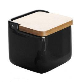 Keramická dóza na sůl Versa Black Salt Box