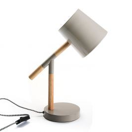 Šedá stolní lampa Versa Grey Modern