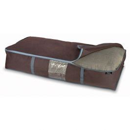 Hnědý úložný box na peřiny Domopak Living, 18x45cm