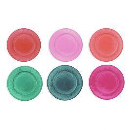 Sada 6 barevných talířů Villa d'Este Maraja, ø 33 cm