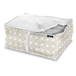 Béžový úložný box na přikrývky Domopak Living Ella, délka55cm