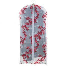 Červenobílý obal na šaty Domopak Living, délka135cm
