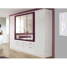 Burano, 225 cm, bílá/fialová
