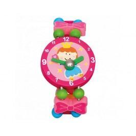 Dřevěné hodinky víla, růžové