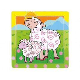 Dřevěné puzzle ovečky, 9 dílků