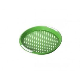 BANQUET Plastový tác 40x40x4 cm zelený, protiskluzový