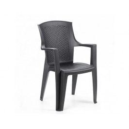 Plastová zahradní židle Eden, antracit
