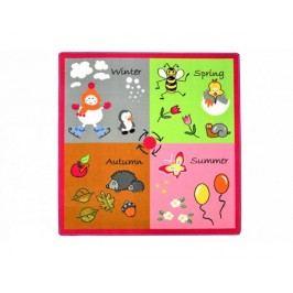 Dětský koberec Roční období čtverec