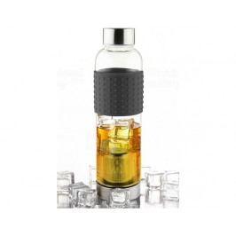 Skleněná lahev s infuserem ASOBU Ice Tea&Ice Coffee IT2GO černá 400ml