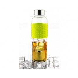 Skleněná lahev s infuserem ASOBU Ice Tea&Ice Coffee IT2GO žlutá 400ml