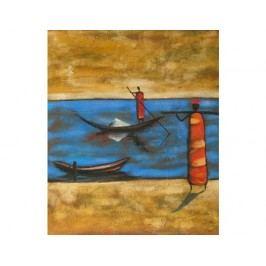 Obraz - Člověk na lodi