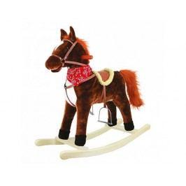 Houpací kůň plyš, střední, tmavěhnědý