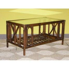 Ratanový stolek Universal-tmavý