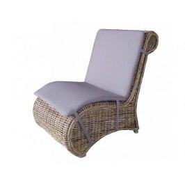 Ratanové relaxační křeslo BONO - cubu grey