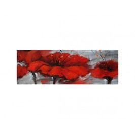 Červené květy na šedém pozadí II.