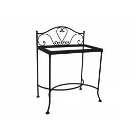 Kovaný noční stolek se sklem MALAGA 0409B