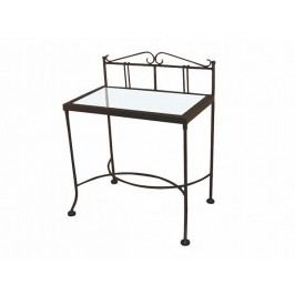 Kovaný noční stolek se skleněnou deskou SARDEGNA